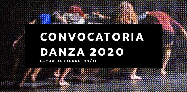 Convocatoria Danza 2020
